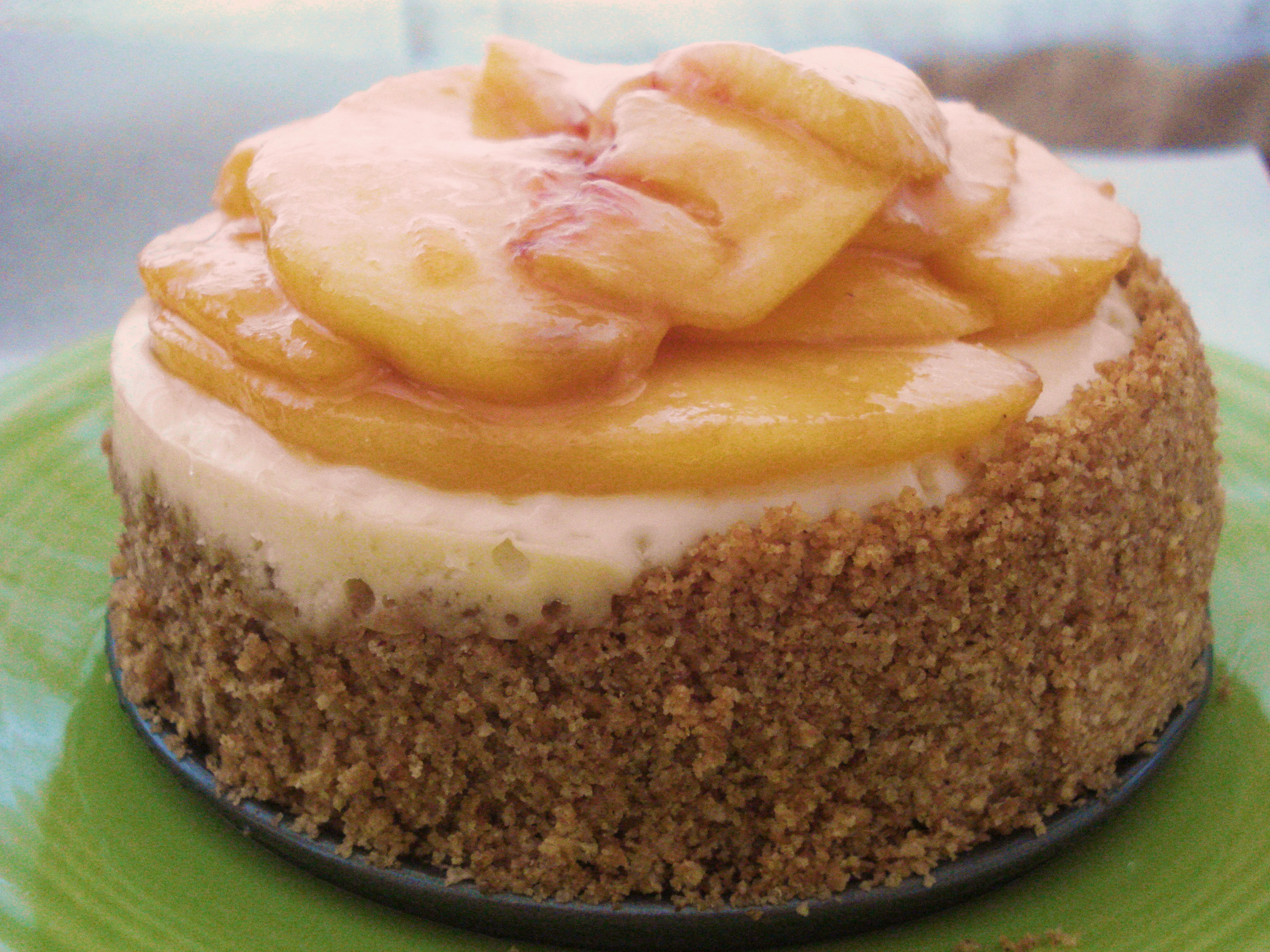 Cheesecake with Honeyed Peaches Dessert for Two