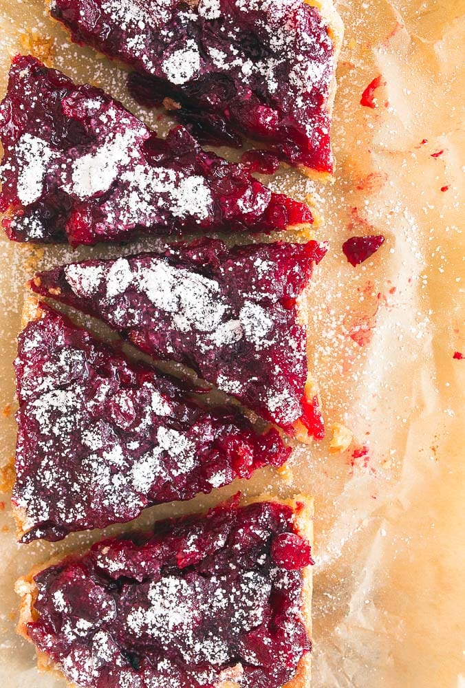 Cranberry Bars using Leftover Cranberry Sauce