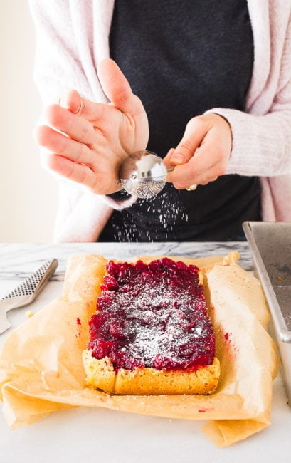 Cranberry Dessert Bars with Shortbread Crust
