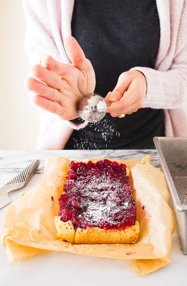 Cranberry Dessert Bars with Shortbread Crust