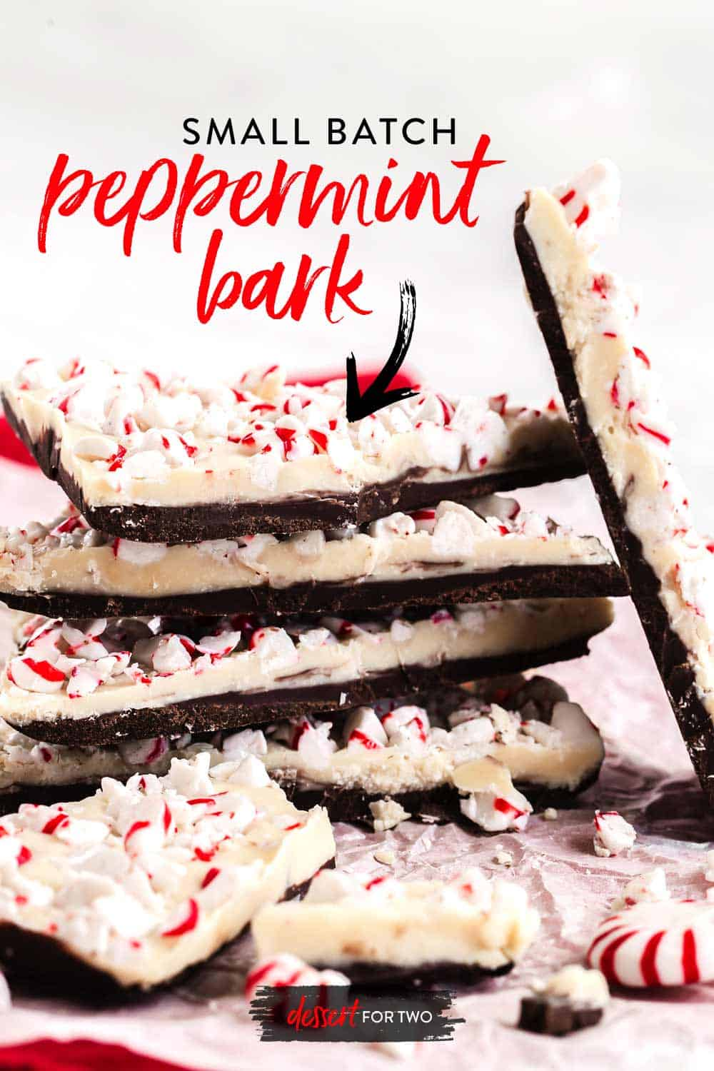 recipe for peppermint bark stacked
