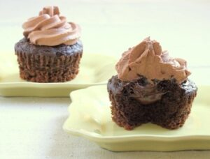 Triple Chocolate Cupcakes (with Nutella)