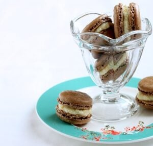 Chocolate Macarons with Orange Buttercream {gluten free}