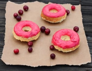 Cranberry-Cornmeal-Donuts