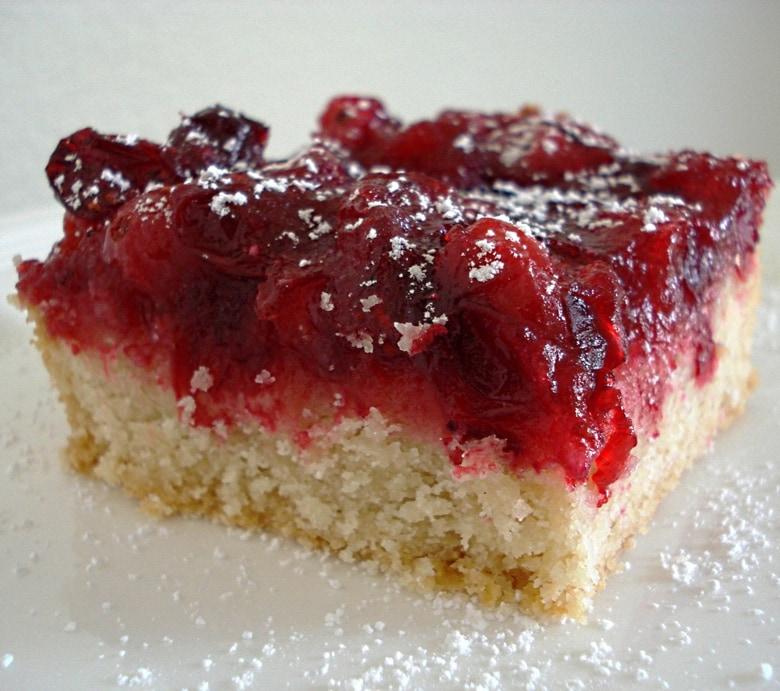 Cranberry Shortbread Bars