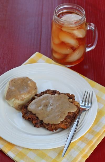 Chicken fried steak for two makes 2 servings of chicken fried forumfinder Choice Image