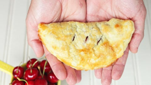 Fresh Cherry Hand Pies made using store-bought pastry. So easy!