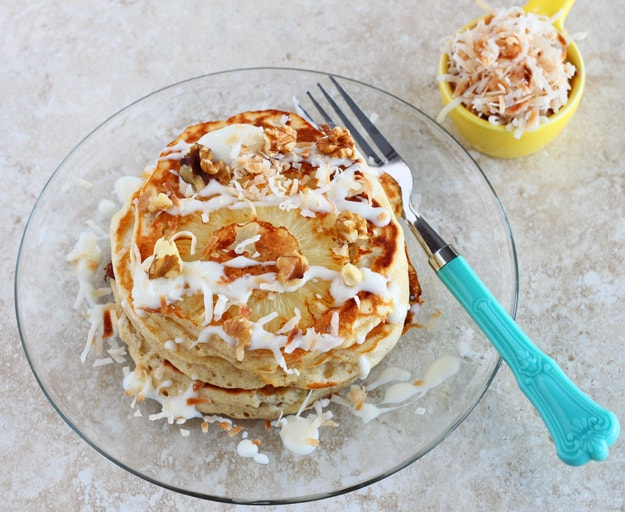 Hummingbird Cake Pancakes