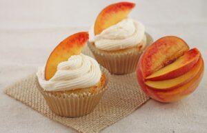 Ginger Peach Cupcakes