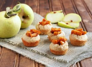 Caramel Apple Cookie Cups - DessertForTwo.com