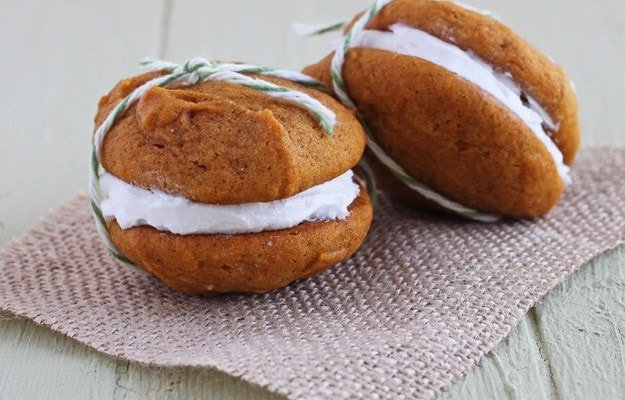 Pumpkin Whoopee Pies - DessertForTwo.com