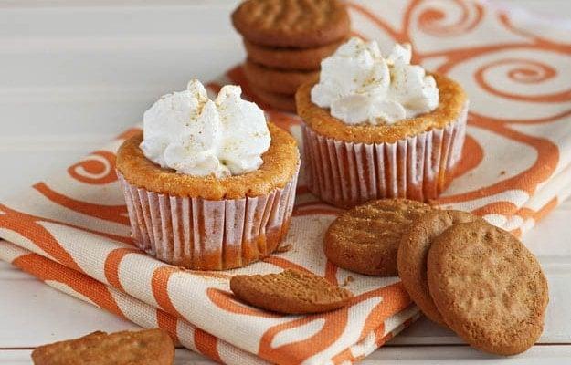 Pumpkin Cheesecakes - DessertForTwo.com
