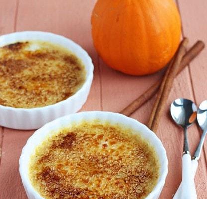 Pumpkin Creme Brulee - DessertForTwo.com