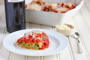 Spinach Lasagna Roll-ups - DessertForTwo.com