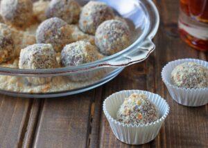 Pumpkin Bourbon Balls - DessertForTwo.com