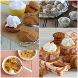 Pumpkin Dessert Collage