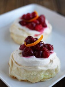 Cranberry Pavlova Dessert For Two