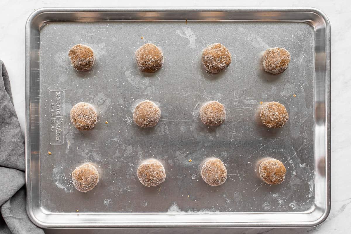 gingersnap cookies before baking