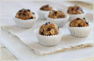Oatmeal Cookie Dough Bites {gluten free}