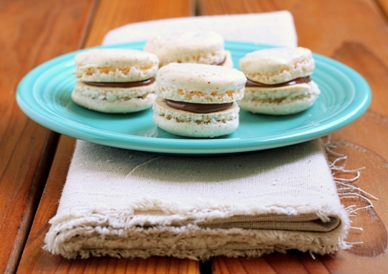 Macarons with Nutella - DessertForTwo.com