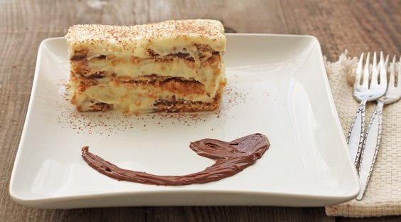 Nutella Eclair Cake for two - DessertForTwo.com