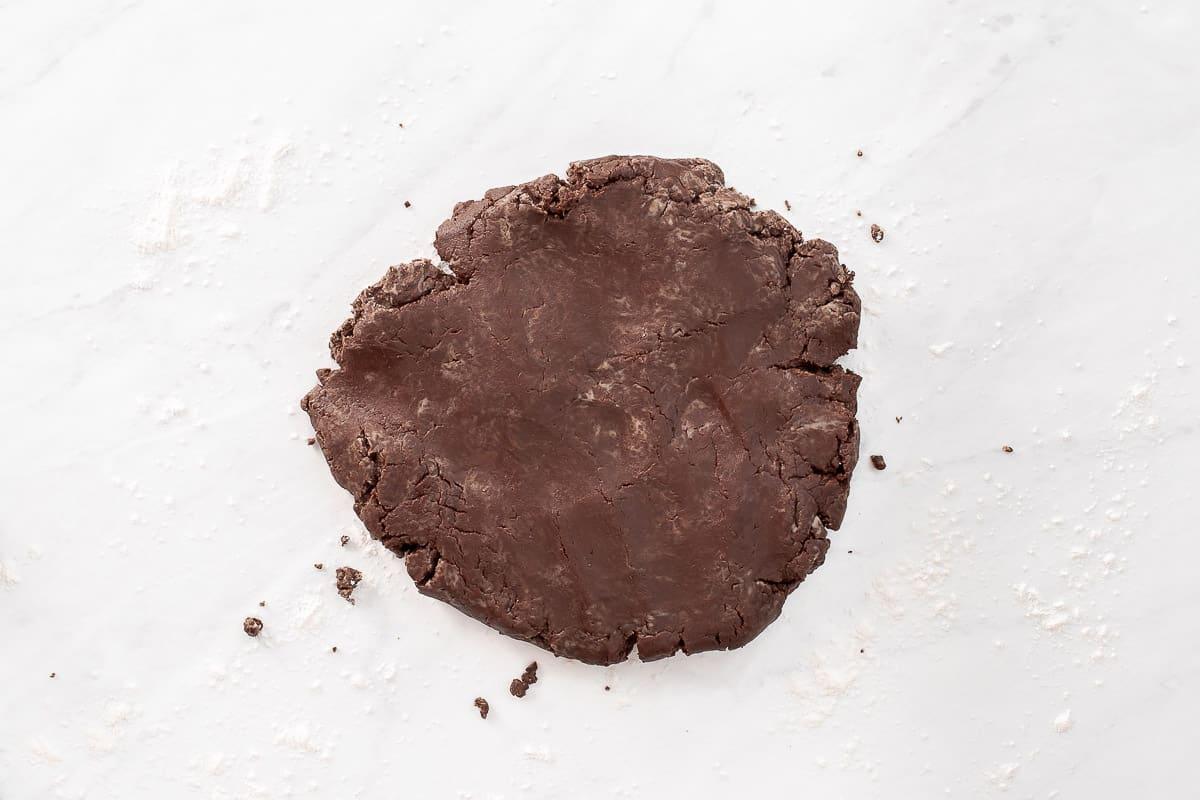 chocolate shortbread dough