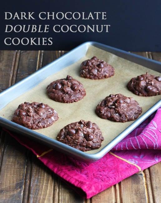Dark Chocolate Double Coconut Cookies - DessertForTwo.com