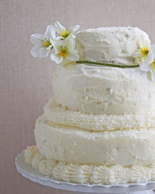 Mini Wedding Cake for two- DessertForTwo.com