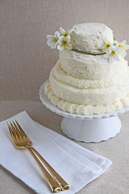 Wedding Cake for two- DessertForTwo.com