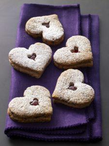 Linzer Heart Cookies- DessertForTwo.com