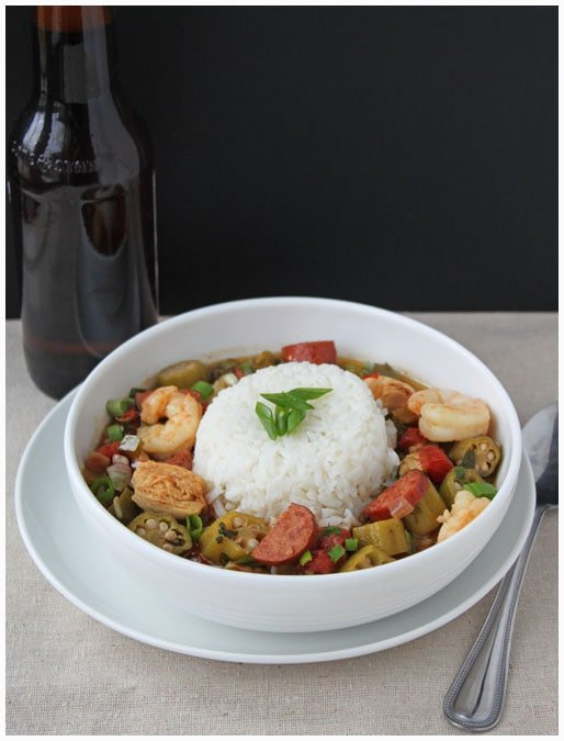 Small Pot of Gumbo - DessertForTwo.com