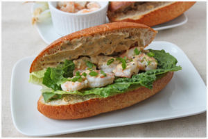 Shrimp Po Boy - DessertForTwo.com