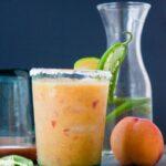 Peach Jalapeño Margaritas