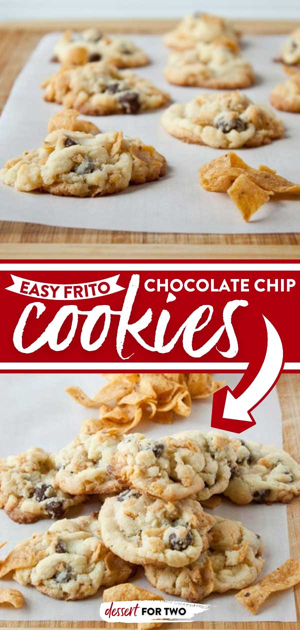 Chocolate chip cookies with Fritos chips.