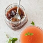Fig Jam Whiskey Cocktail | dessertfortwo.com