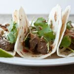 Dinner for Two: Peanut Butter Steak Tacos (with sriracha!)