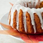 Mini Pumpkin Bundt with Bourbon Glaze