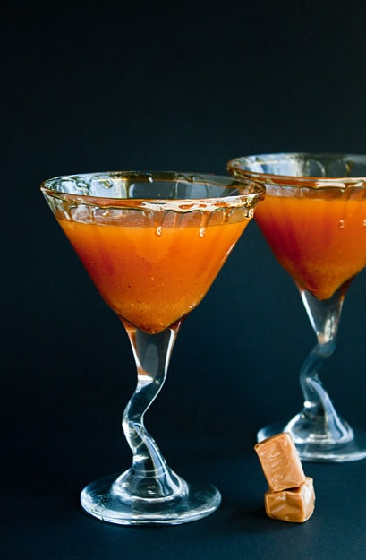 Pumpkin Butter Cocktail | dessertfortwo.com