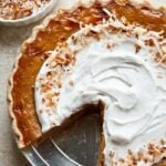 Orange Spice Coconut Pumpkin Pie