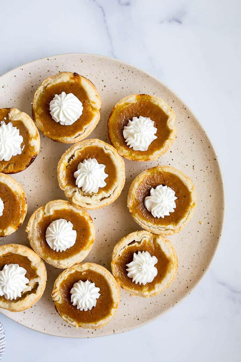 small pumpkin pie for two