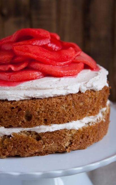 Red Hot Cinnamon Apple Cake
