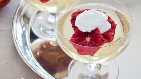 Wine Jello: Moscato Wine Jello with Oranges and Whipped Cream
