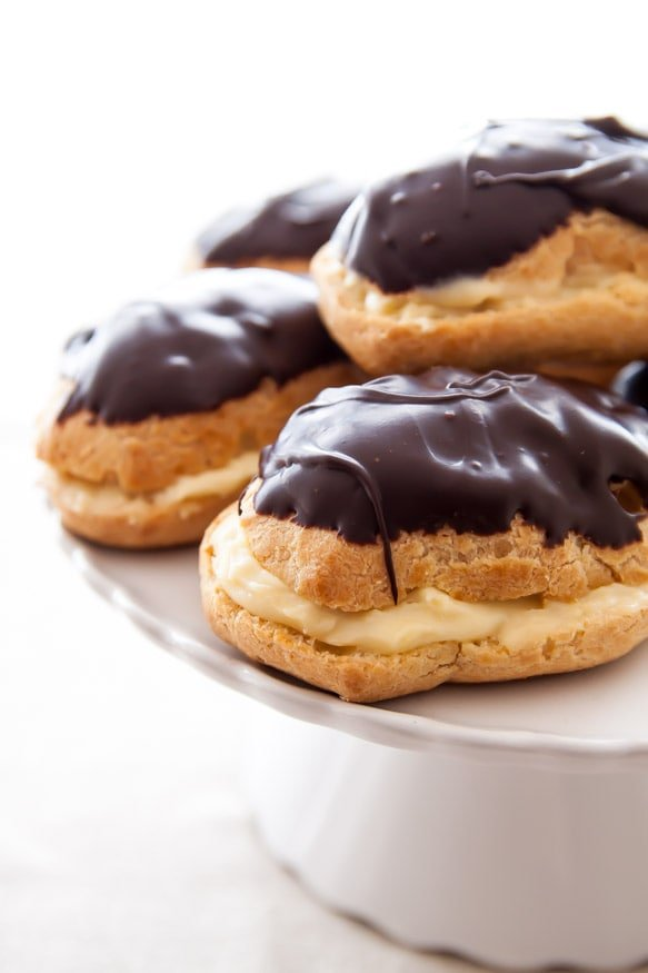 Chocolate Eclairs | dessertfortwo.com