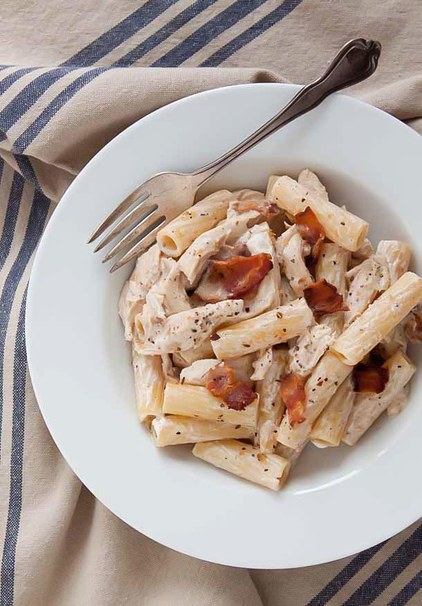 Creamy-Chicken-Bacon-Pasta-recipe   dessertfortwo.com