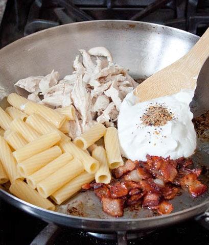 Creamy-Chicken-Bacon-Pasta-recipe | dessertfortwo.com