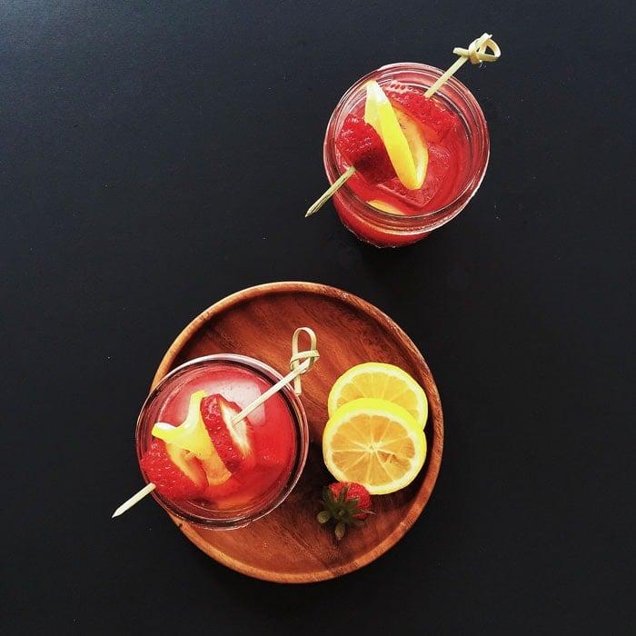 Strawberry Jam Cocktail   dessertfortwo.com
