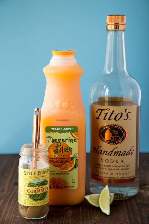 Tangerine Coriander Sorbet | dessertfortwo.com