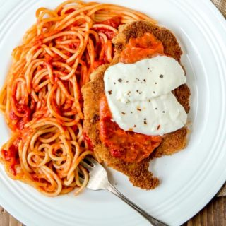 Romantic yet easy Chicken Parm for two @dessertfortwo