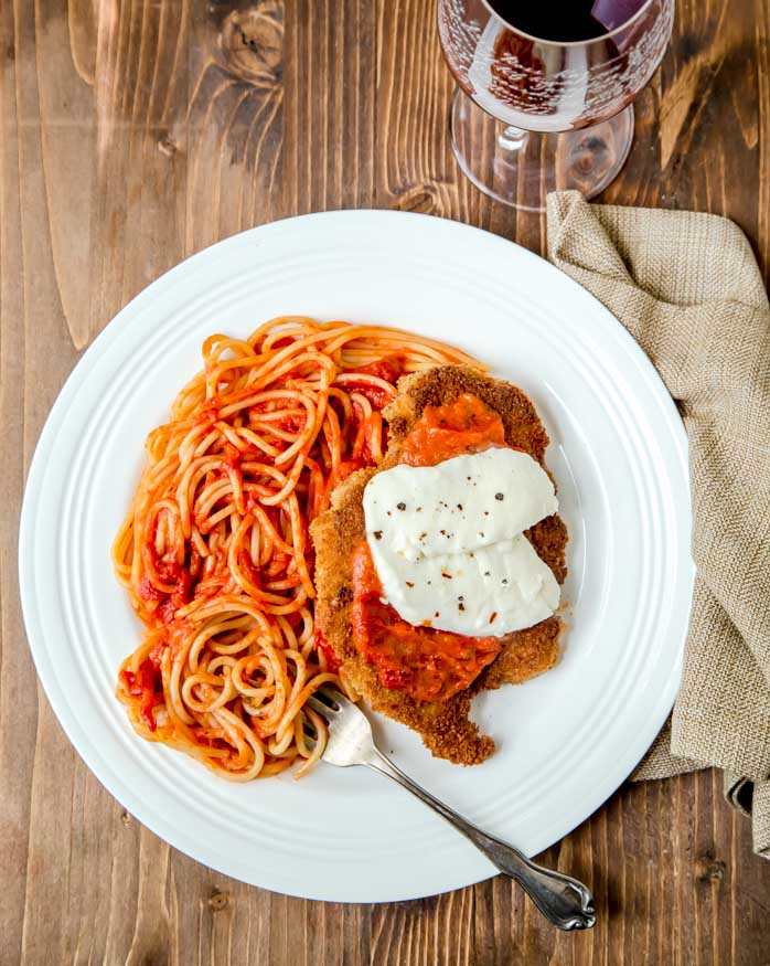 Chicken Parm that serves two @dessertfortwo