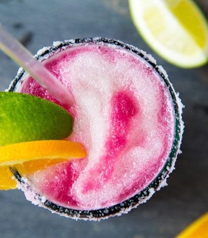 Sangria Swirl Margaritas | dessertfortwo.com